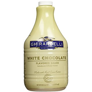 Ghirardelli Chocolate Flavored Sauce, Classic White Chocolate, 89.4-Ounce Package