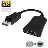 FOINNEX Active Displayport To HDMI, 4K DP To HDMI Male To Female Active Audio And Video Adapter Supports ATI Eyefinity M