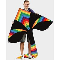 Large Rainbow Kite For Kids With Beautiful Design 56-INCH, This Kite Is A Hight Quality And Therefore Easy Flyer Kite Fl