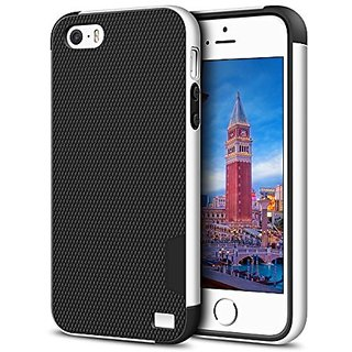 iPhone 5 Case, LoHi Hybrid Impact Three-Color iPhone 5s Bumper Cases Skin Shockproof Rugged Anti-slip Soft Rubber bumper