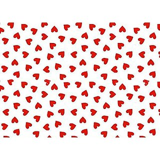 SheetWorld c-w566-FD c-w566-FD Crib / Toddler Sheet - Primary Hearts Red Woven - Made In USA