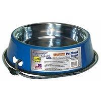 Farm Innovators Model SB-60 5-1/2-Quart Heated Pet Bowl With Stainless Steel Bowl Insert, Blue, 60-Watt