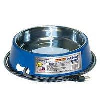 Farm Innovators 3-Quart Heated Pet Bowl With Stainless Steel Bowl Insert, Blue Model SB-40, 40-Watt