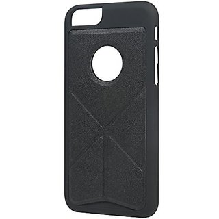 Yongcheng iPhone 6plus 6S plus Case Magnetic Foldable Leather Deformation 5.5inch(Black)
