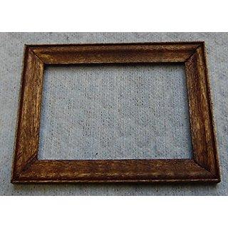 Dollhouse Miniature 1:12 Scale Picture Frame, Walnut Finish