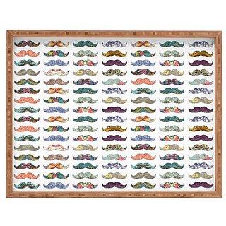 DENY Designs Mustache Mania Pet Tray, Bianca Green