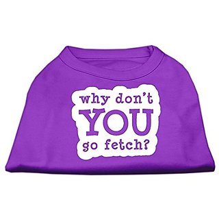Mirage Pet Products You Go Fetch Screen Print Shirt, X-Small, Purple