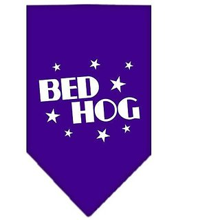 Mirage Pet Products Bed Hog Screen Print Bandana for Pets, Small, Purple