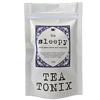 BE SLEEPY Relaxing Bedtime Tea with Valerian, Kava Root, Chamomile, and Lavender 40g - for Relaxing, Calming the Nervous