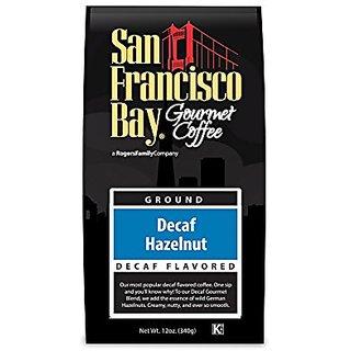 San Francisco Bay Coffee Ground, Decaf Hazelnut, 12 Ounce