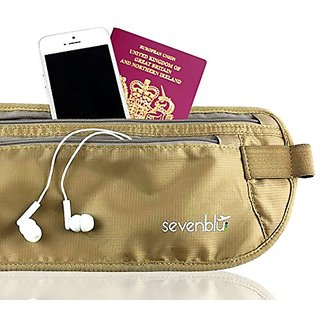 TOP QUALITY Soft RFID Blocking Travel Money Belt to Keep Money & Passport Safe from Pickpockets and Loss - Conceals Unde