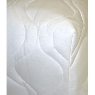 SheetWorld Fitted Cradle Sheet - White Quilted - Solid Colors