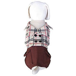 UP-Collection The Perfect Plaid Dog Shirt and Cargo Pant, Medium