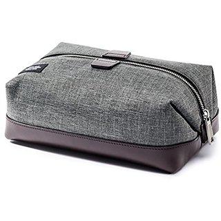 Jack Spade Mens Tech Oxford Travel Kit - 9.8 Inches, Grey