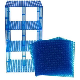 Premium Clear Blue Stackable Base Plates - 10 Pack 6