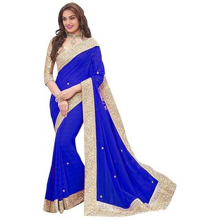 Trendy Blue Gara Saree