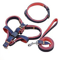 Cherbell Dog Leash Harness Adjustable Dog Leash Collar Dog Chock Chain Heavy Duty Walking Training Strap For Pet(Medium)