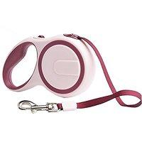 D-Mcark Pet Supplies Durable Dog Retractable Walking Leash 16.4ft For Pet Ourdoor Red