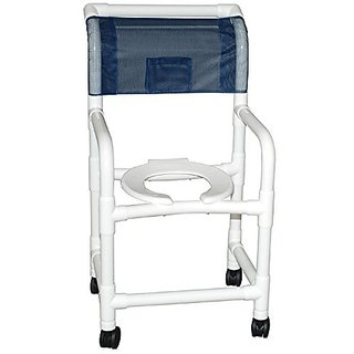 MJM International 118-3TW-TS-SSDE-SF Standard Shower Chair with Tilt Seat, Soft Seat and Slide Out Footrest, 300 oz Capa