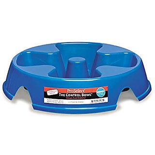 Proselect The Control Bowl Plasic for Pets, 32-Ounce, Blue