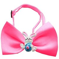 Mirage Pet Products 47-51 HPK Easter Bunny Chipper Hot Pink Bow Tie, Small