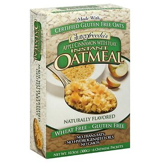 Glutenfreeda Instant Oatmeal Apple Cinnamon, 10.5000-ounces (Pack of4)
