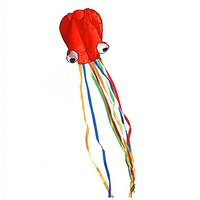 BeMax Beautiful Kites Soft Octopus Large Size Easy Flyer - Red With Long Tail