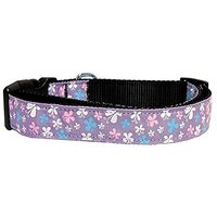 Mirage Pet Products Butterfly Nylon Ribbon Collar, Large, Lavender