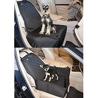 KritterWorld 2 In 1 Pet Bucket Front Seat Covers Travel Protector Booster Seat For Dogs Fits Most Cars Trucks And SUVs S