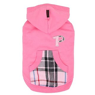 PUPPIA Authentic Modern Hoodie for Pets, Large, Pink