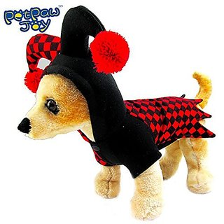 PetPawJoy Pet Clown Play Costume,Medium