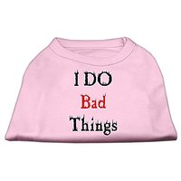 Mirage Pet Products 16-Inch I Do Bad Things Screen Print Shirts For Pets, X-Large, Light Pink