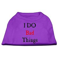 Mirage Pet Products 16-Inch I Do Bad Things Screen Print Shirts For Pets, X-Large, Purple