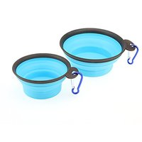 Forpet Set Of 2 100% Non-toxic Food Grade Silicone Pet Bowl - Collapsible Dog And Cat Bowl - Portable Lightweight Travel