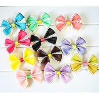 My Little Star Pet - Handmade Ss Design Bow For Small Cats/dogs , Small Bow For Small Size Cat/dogs (10 Piece Ss Desgn B