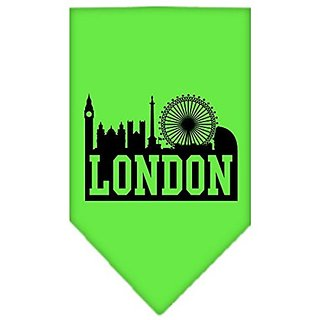Mirage Pet Products London Skyline Screen Print Bandana, Small, Lime Green