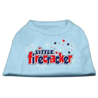 Mirage Pet Products 12-Inch Little Firecracker Screen Print Shirts for Pets, Medium, Baby Blue