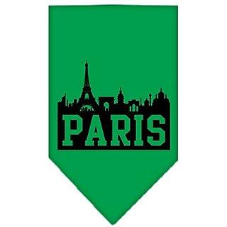 Mirage Pet Products Paris Skyline Screen Print Bandana, Large, Emerald Green
