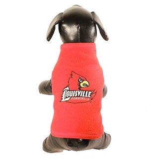 NCAA Louisville Cardinals Polar Fleece Dog Sweatshirt, Tiny