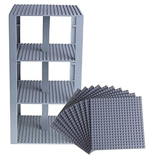 Premium Light Gray Stackable Base Plates - 10 Pack 6