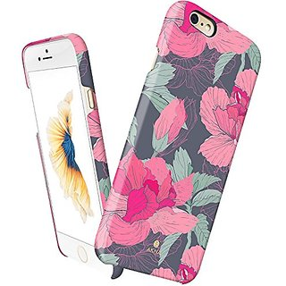 iPhone 6 Plus 6s plus case floral, Akna Vintage Obsession Series High Impact Slim Hard Case with Soft Fabric Interior fo