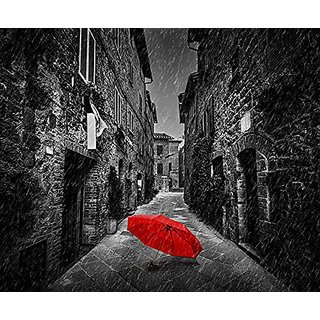 Sound Art Bluetooth Speaker Umbrella On Dark Narrow Street, 9