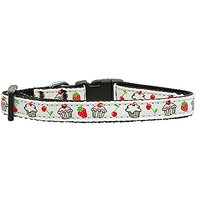 Mirage Pet Products Cupcakes Nylon Ribbon Collar For Pets, X-Small, White