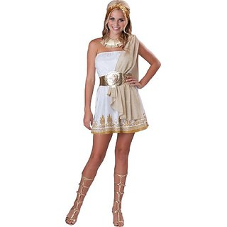 InCharacter Costumes Teen Glitzy Goddess Costume, White/Gold, Medium