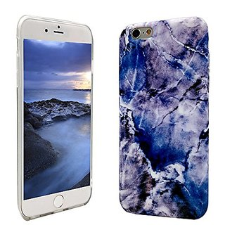 Wastou Marble Texture Series Slim Fit Frosted TPU Protective Cover Case for iPhone 6 Plus / 6s Plus 5.5Inch (Royalblue)