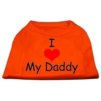 Mirage Pet Products 12-Inch I Love My Daddy Screen Print Shirts For Pets, Medium, Orange
