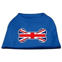 Mirage Pet Products 20-Inch Bone Shaped United Kingdom Union Jack Flag Screen Print Shirts For Pets, 3X-Large, Blue