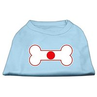 Mirage Pet Products 8-Inch Bone Shaped Japan Flag Screen Print Shirts For Pets, X-Small, Baby Blue