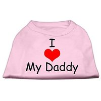 Mirage Pet Products 12-Inch I Love My Daddy Screen Print Shirts For Pets, Medium, Pink