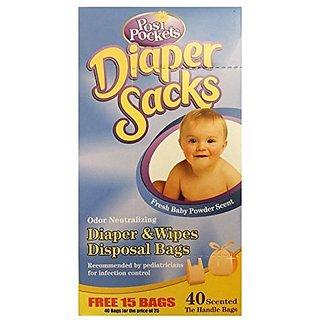Posi Pockets Diaper Sacks 40 Bags Pack Of 2